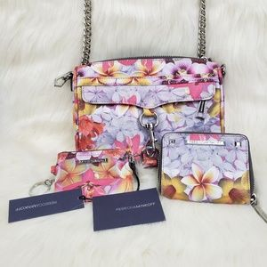 REBECCA MINKOFF crossbody bag w/ wallet & keychain